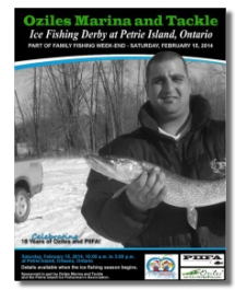 2014 Ice Fishing derby at Petrie Island