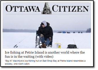 Ottawa Citizen ice fishing article