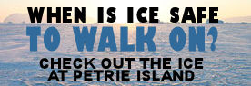 Petrie Island ice conditions